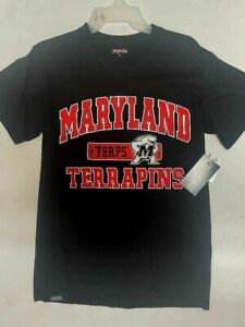 Maryland Terrapins Black NCAA T-Shirt Mens SMALL LARGE New W Tags .99 Special!
