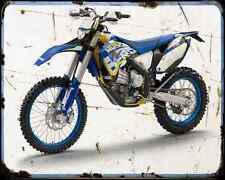 Husaberg Fe 450 12 1 A4 Metal Sign Motorbike Vintage Aged