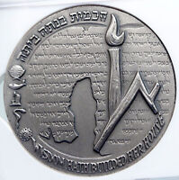 1965 ISRAEL Vintage HEBREW UNIVERSITY of JERUSALEM Old Silver Medal NGC i89340