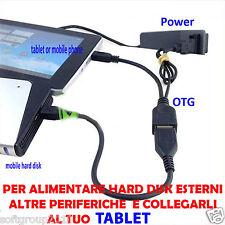 CAVO OTG USB + ALIMENTAZIONE PERIFERICA PER  HUAWEI GOOGLE NEXUS 4 5 7 10
