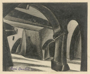 "Boris Deutsch (1892-1978) ""Mystical architecture"", drawing, 1925"