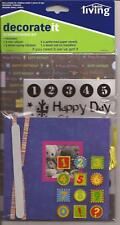 HAPPY BIRTHDAY SCRAPBOOKING KIT Album Patterned Paper Stickers Rub On Transfers
