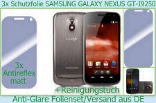 3x Antirreflectante mate película protectora de pantalla Samsung GALAXY Nexus GT