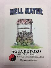 NEW AGE BOTANICA PRODUCTS GENUINE WELL WATER 4 FL OZ ( AGUA DE POZO)