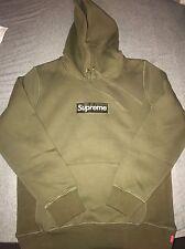 Supreme Box Logo Hoodie Size L Color Army Green