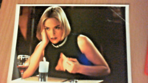 """Colour Photo Postcard from Film Review 5""""x4"""" of Sharon Stone in Silver"""