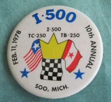 1978 I-500 Snowmobile Race  Entry Pin