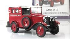 1:43 AMO F-15 Deagostini ambulance diecast model red USSR RUSSIAN CARS