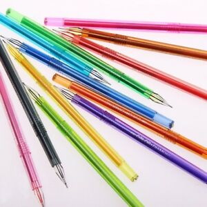 12PCS/lot School Office Supplies Pens Gel Colored Diamond Color Candy Fresh cv1