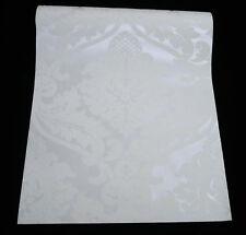 5543-38) 1 Rolle Vliestapete FLOCK Barock Ornament Tapete weiß mit Glanz