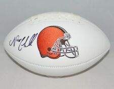 NICK CHUBB AUTOGRAPHED SIGNED CLEVELAND BROWNS WHITE LOGO FOOTBALL JSA