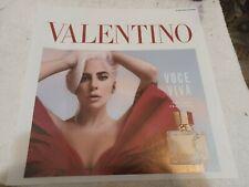 "Lady Gaga Voce Viva Valentino Poster  13"" X 13"" Store Display RARE Size  LOOK"