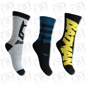 Boys Kids Batman Design Character Socks DC Comics Superhero Casual Wear