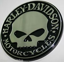 willie g harley davidson skull bike 3d emblem tag chrome adhesive sticker 3m HD