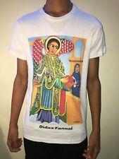 "Ethiopian Orthodox ""Qidus Fanuel "" Icon T-shirts White ""Size S"""