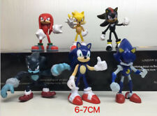 6 pcs Sonic the Hedgehog Action Figure PVC Toy Doll Boxed Set Gift Collect Decor