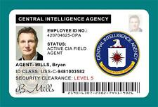 TAKEN (Movie) Bryan Mills CIA ID Card / Badge Prop - Liam Neeson >>PVC PLASTIC