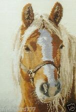 NEW Russian Counted Cross Stitch KIT Alisa 1-17 White mane Horse Adele Animals