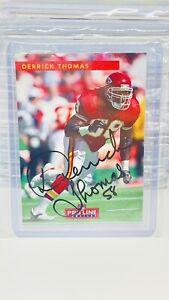 1992 Pro Line Derrick Thomas AUTO.  Kansas City Chiefs.Alabama. NFL Certified