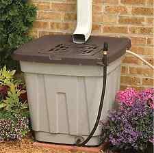 Suncast 50-Gallon Rain Water Barrel Outdoor Rainwater Storage Collection System