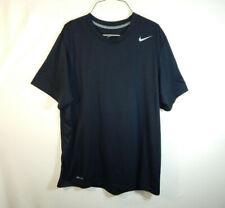 Nike Dri Fit Short Sleeve T Shirt Athletic Black Size Adult Medium M