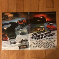 1973 VW THE THING 2-Page Print Ad ~ It Can Be Anything!!!