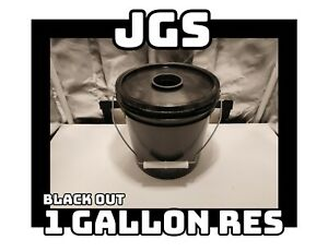 "JGS Small Basic Black 1 Gallon DWC Hydroponic Reservoir Only w 2"" Net Pot DIY"