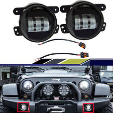 "2PC CREE 4"" Round LED Fog Lights 30W For 2007-2015 Jeep Wrangler JK Off-road SUV"