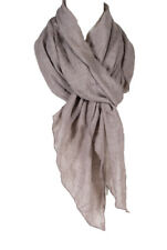 Plain Color cotton wrinkle Linen scarf , all season scarf, taupe color