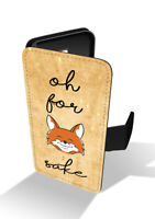 Oh for Fox Sake Funny Quote Slang Wallet Leather Phone Case