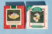 Lot of 2 ~ Hallmark DONNA LEE ANGELS ~ 1986/1987 Christmas Keepsake Ornaments