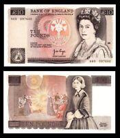 Great Britain, UK , 10 £ Pounds, QE II 1975, P #379a AU-UNC / *
