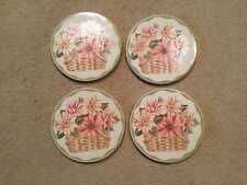 Longaberger Coasters.set Of 4. Ceramic.