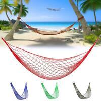 Portable Nylon Hammock Outdoor Net Swing Sleeping Bed Camping Hanging Mesh Hamac