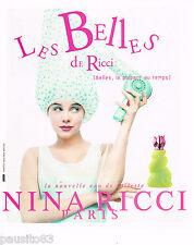 PUBLICITE ADVERTISING 065  1996  NINA RICCI  eau de toilette LES BELLES 3