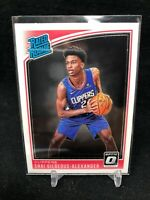 SHAI GILGEOUS-ALEXANDER 2018-19 OPTIC RATED ROOKIE  #162 CLIPPERS RC F75