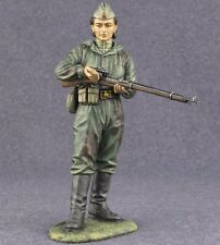 USSR Sniper WW2 Soviet Soldier Painted Toy Tin Soldier 110 mm Woman Metal Girl