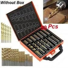 50Pcs Titanium Ti-N Drill Bit Set Twist Coated HSS Wood Metal Kit 1.5-3MM mM