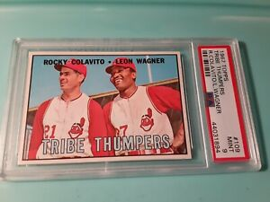 1967 Topps TRIBE THUMPERS PSA 9 MINT COLAVITO/WAGNER Cleveland INDIANS # 109