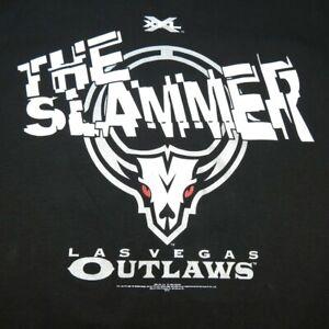 NEW XFL  FOOTBALL LAS VEGAS OUTLAWS THE SLAMMER TEE T SHIRT Sz Mens XL