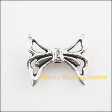 10Pcs Tibetan Silver Tone Knot Wings Spacer Beads Charms 16.5x20mm