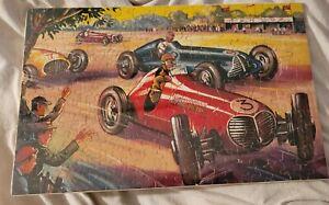 Old Vtg Puzzle - Racecars - Grand Prix 1950s