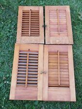 Vintage Wooden Shutters~Indoor~Curtain Style Shutters~ Louvered Shutters Set