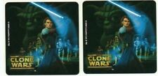 2 x Square Stickers ~ Star Wars Clone Wars Party Favours Loot ~