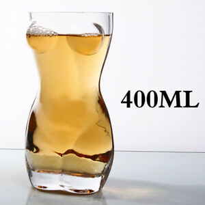400ml Sexy Lady Men Durable Double Wall Whiskey Glasses Wine Shot Glass Beer Cup