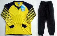 Soccer Goalie Goalkeeper Kit Kids Adult Long Sleeve Jersey & Pants 7607 Yellow