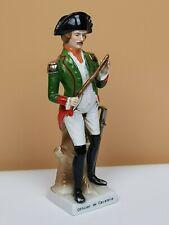 STATUINA Figurine Porcellana Soldato Officier De Cavalerie Francese Ufficiale