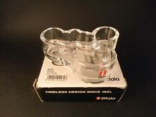 Iittala Alvar Aalto Scandinavian Art Glass Votive Candle Holder +Box and Labels