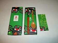2008 Olympic Beijing Fuwa Wood Children's Chopstick Spoon Set