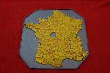 """Carte de France  Puzzle  en plastique """" Indre manquant """""""